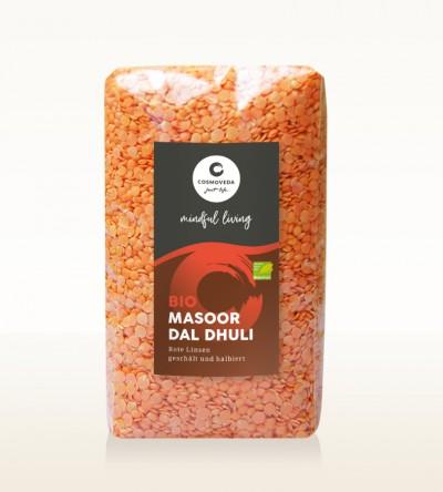 BIO Masoor Dal Dhuli - Rote Linsen, geschält und halbiert 500g
