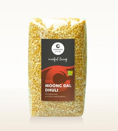 BIO Moong Dal Dhuli - Mungbohnen, geschält und halbiert 500g