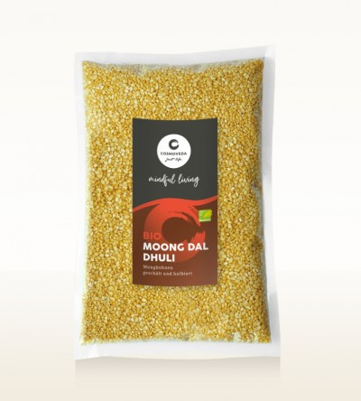 BIO Moong Dal Dhuli - Mungbohnen, geschält und halbiert 1kg