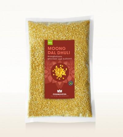 BIO Moong Dal Dhuli - Mungbohnen, geschält und halbiert 2,5kg