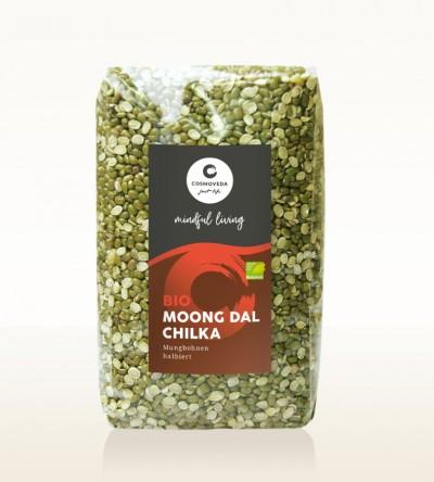 BIO Moong Dal Chilka - Mungbohnen, halbiert 500g