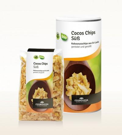 BIO Kokosnusschips, geröstet und gesüßt