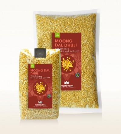 BIO Moong Dal Dhuli - Mungbohnen, geschält und halbiert