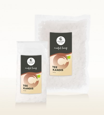 Ayurveda Tee Kandis weiss Fair Trade